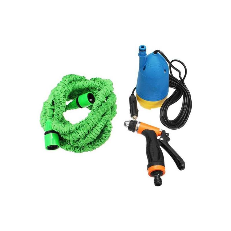 Hordozható magasnyomású mosó / autómosó készlet szivargyújtó csatlakozóval