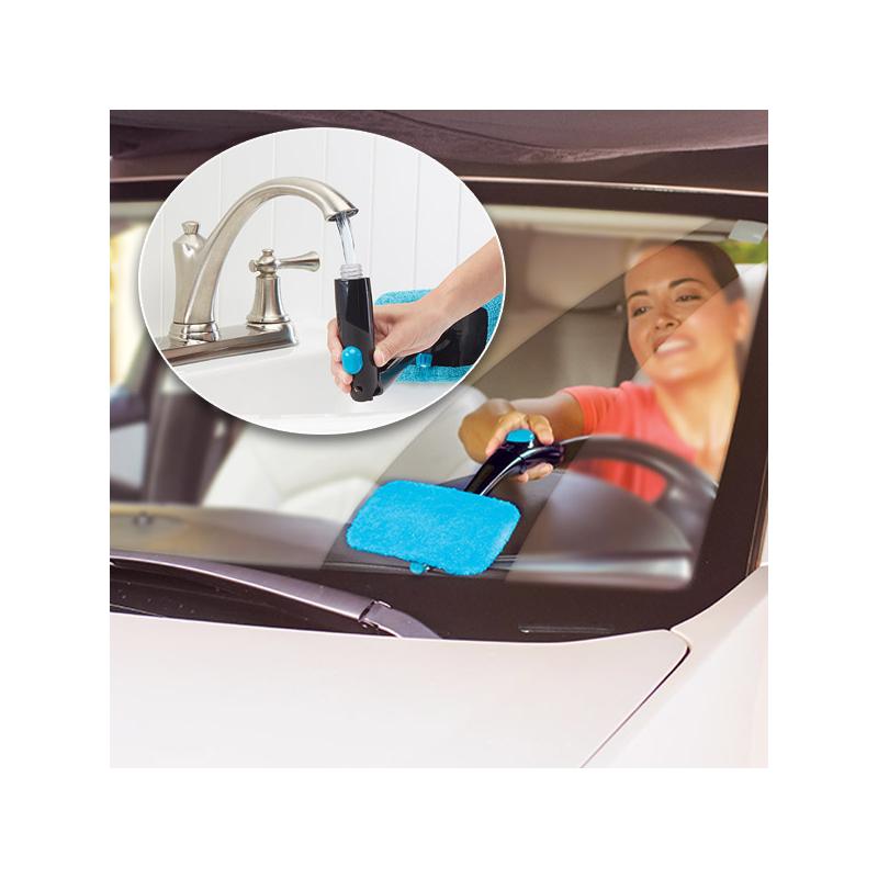 Csuklófejes ablak- és szélvédőtisztító beépített adagolóval / páramentesítő
