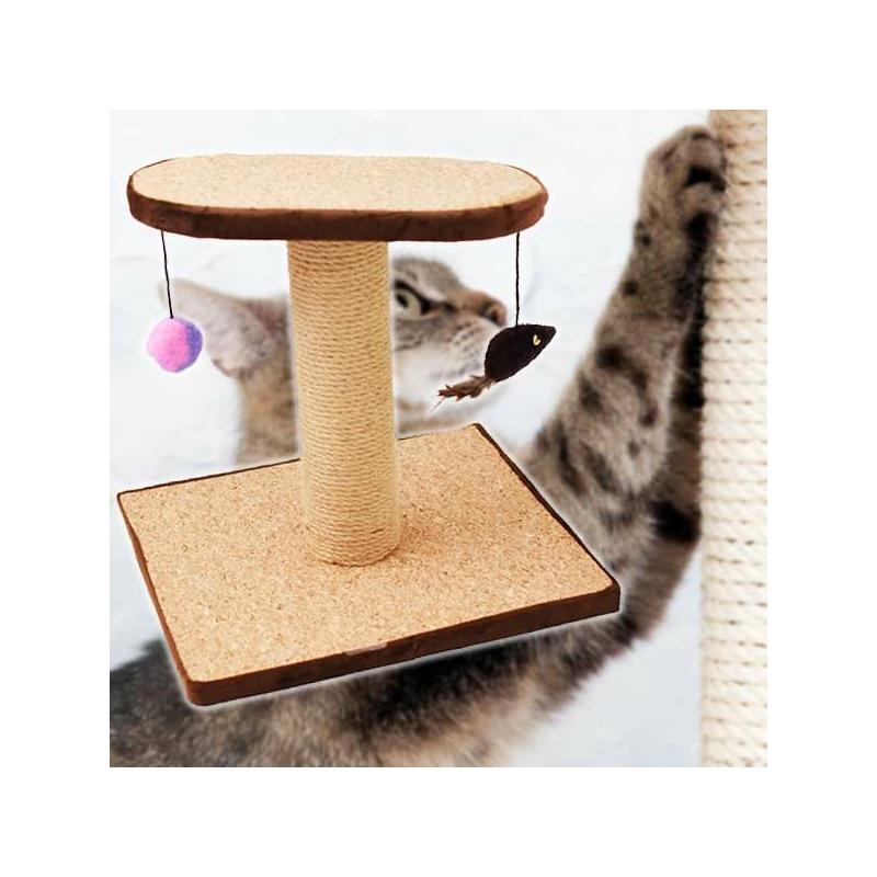 Macskatorony - kaparófa játékokkal és fekvőhellyel (BPS-10706)