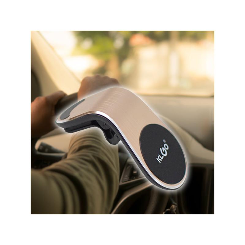 Z8 mágneses autós telefontartó / szellőzőrácsba illeszthető, L-formájú