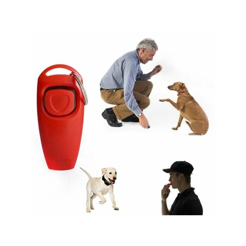 Nyomógombos kutyaoktató, idomító klikker / beépített síppal
