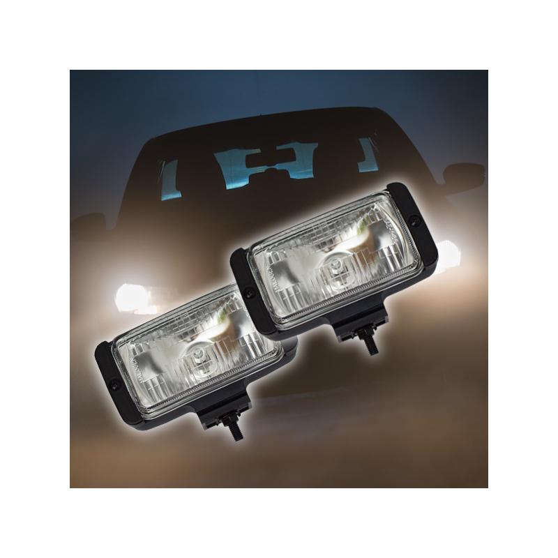 Ködlámpa szett / H3 kiegészítő fényszóró, síküveges