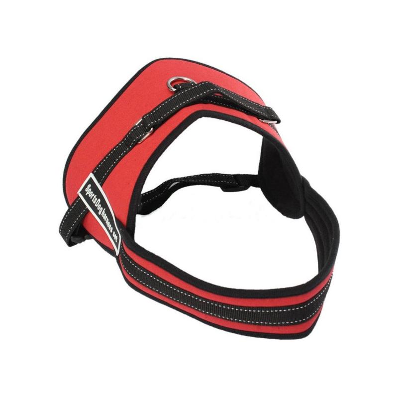Sport kutyahám - kényelmes kialakítású, piros