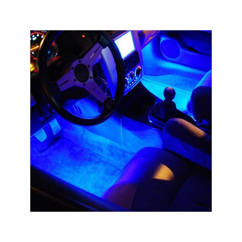 USB-s színváltós RGB LED lábtérvilágítás autóba / távirányítóval