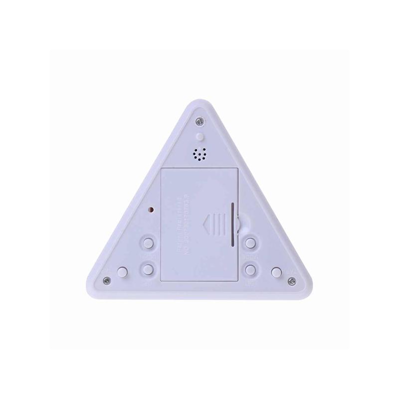 Piramis alakú színváltós ébresztőóra