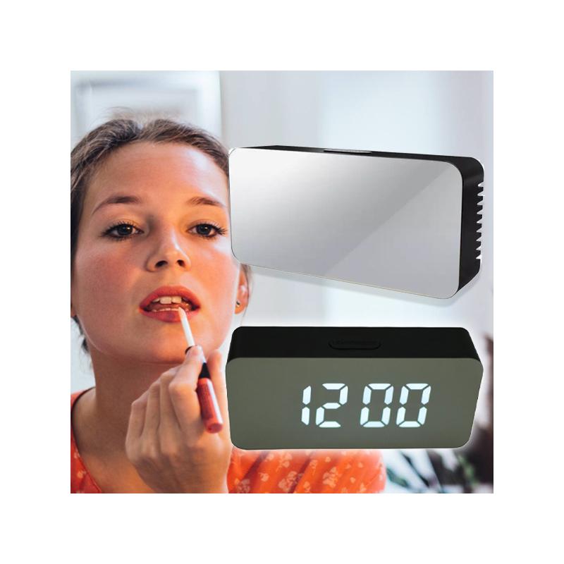 Kis tükrös LED ébresztőóra hőmérővel