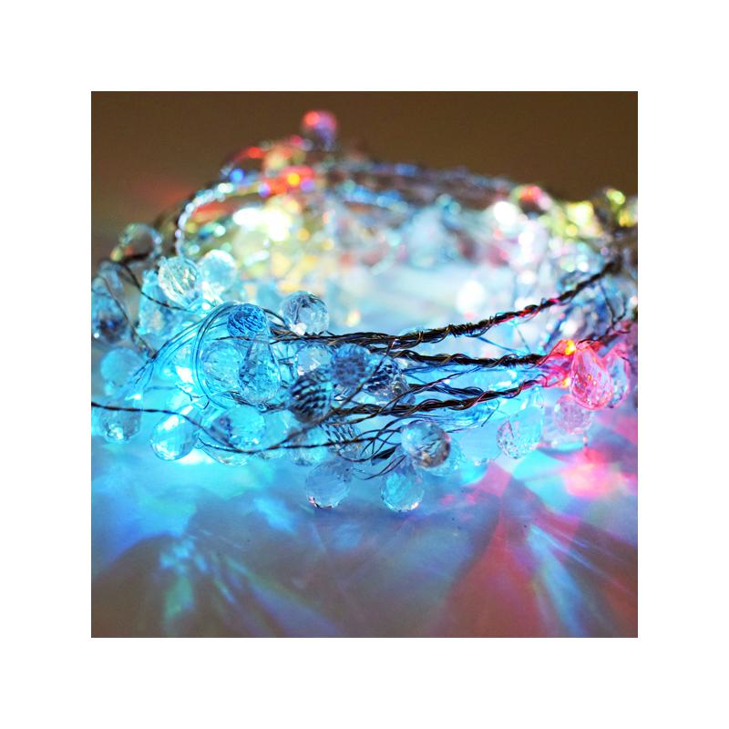 Gyöngy dekor led füzér / hangulatvilágítás – 180 cm