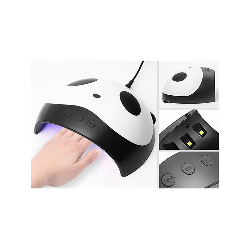 Panda mintájú ledes UV lámpa műkörömhöz