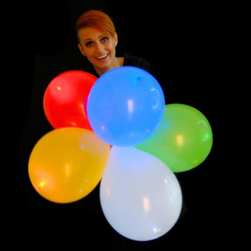 LED lufi / világító ledes léggömb, 5 db-os csomag