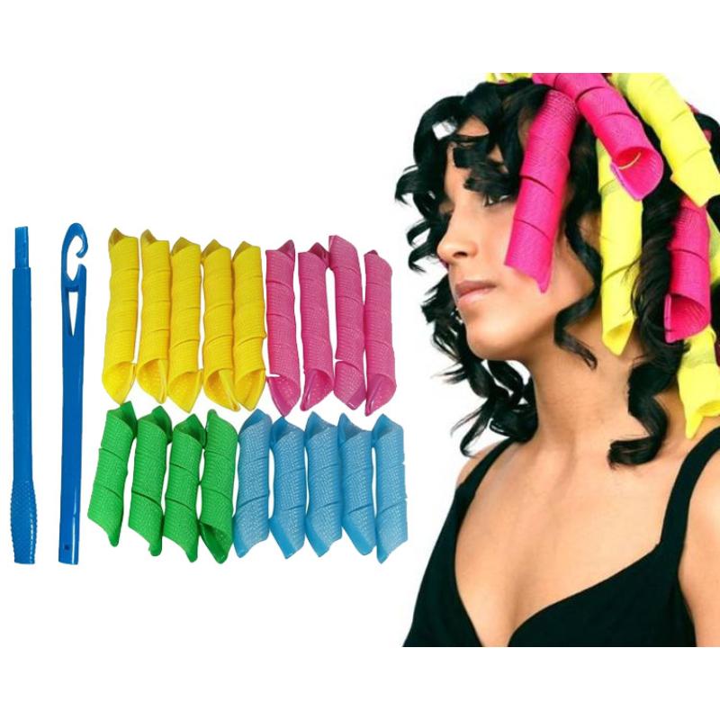 Mágikus hajformázó és hajgöndörítő készlet / 18 darabos