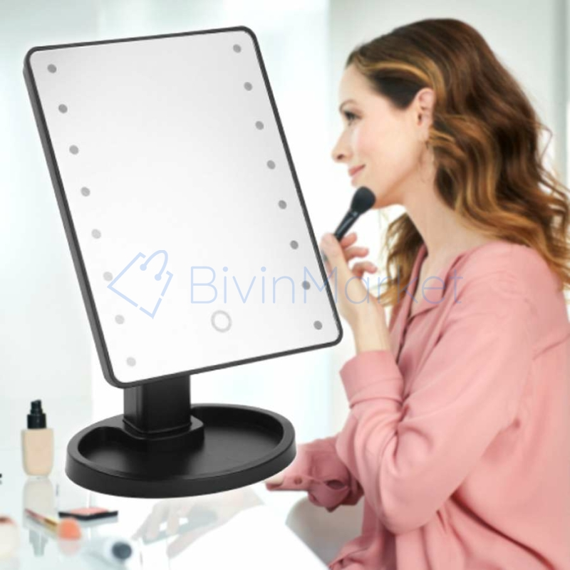 16 ledes kozmetikai- és sminkes tükör