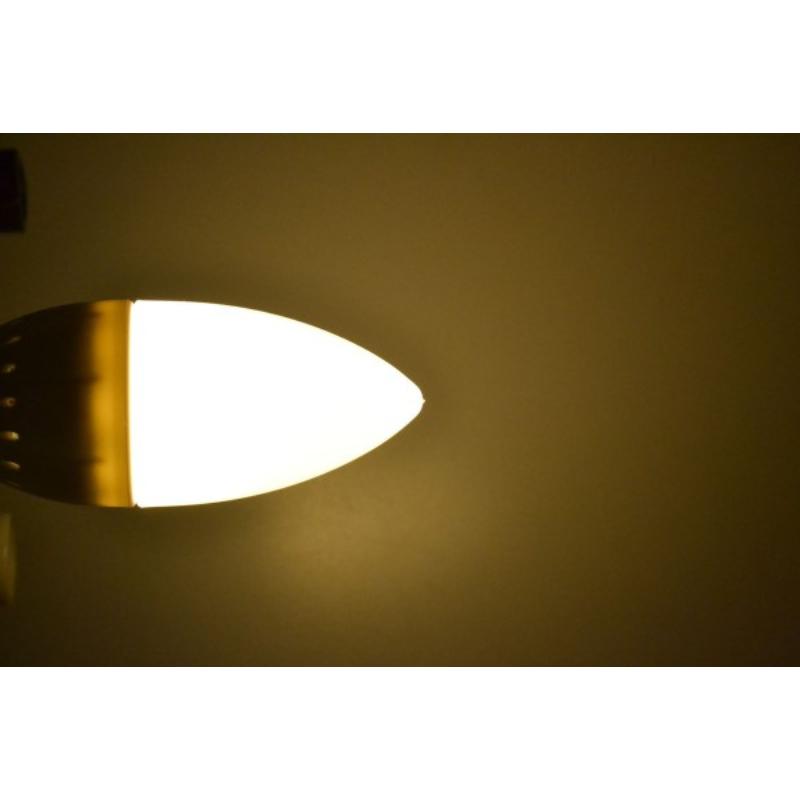 6 db 3W gyertya LED izzó tejüveg búrával / E14 foglalatba - hideg fehér
