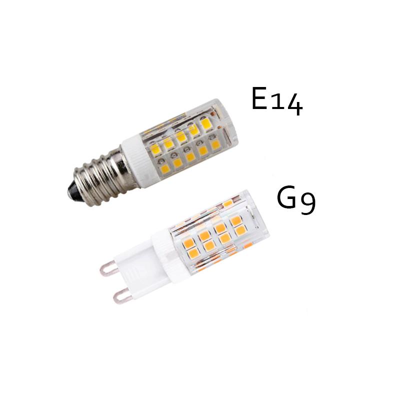 Mini ledes kerámiatestű izzó E14 foglalatba - meleg fehér