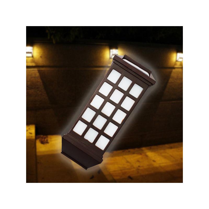 Napelemes falra szerelhető kerti dekor lámpa / 2 db