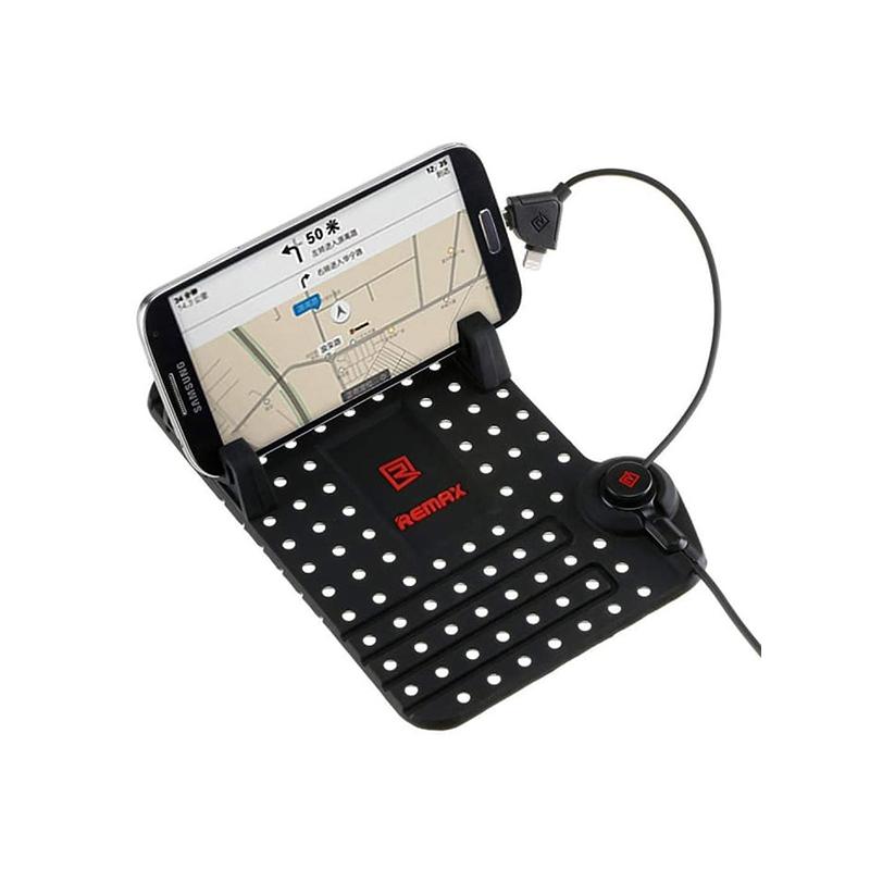 Csúszásmentes autós telefontartó és töltő