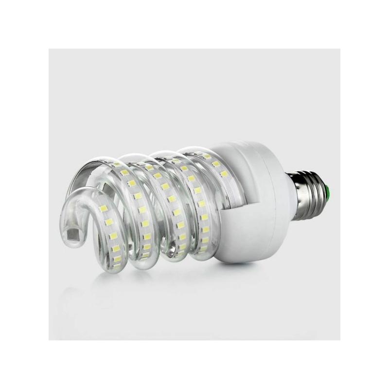 Spirál 24W LED fénycső E27 foglalatba, meleg fehér