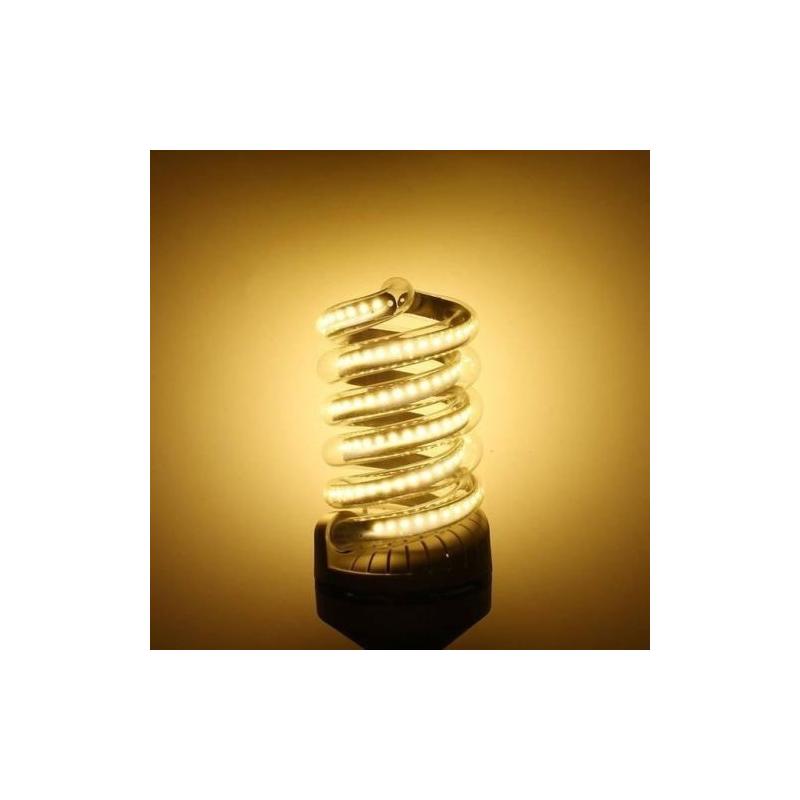 Spirál 12W LED fénycső E27 foglalatba, meleg fehér
