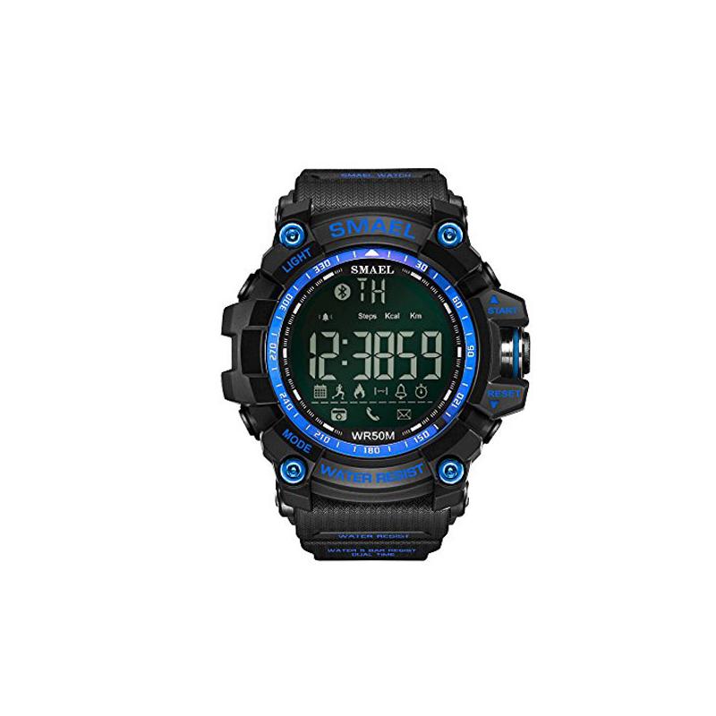 Military Bluetooth okosóra / Strapabíró Bluetooth karóra - kék-fekete