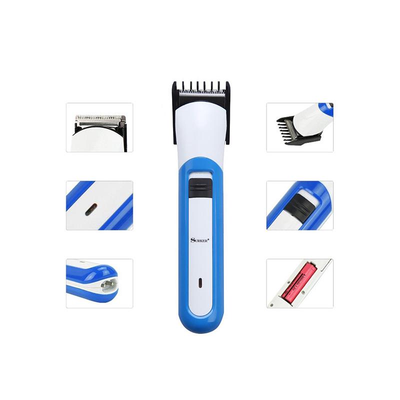 SK-530 újratölthető, vezeték nélküli hajnyírógép, állítható fejjel