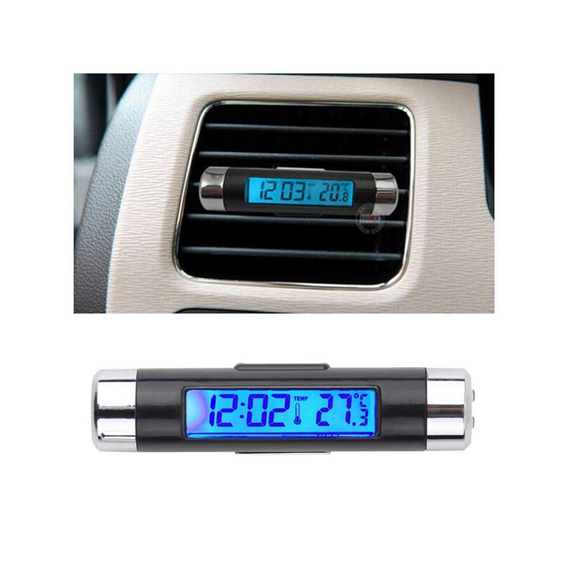 Autós hőmérő és óra / szellőzőrácsba rögzíthető