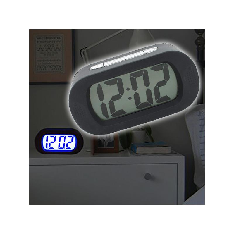 Szilikon borítású digitális ébresztőóra