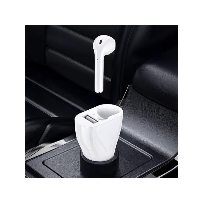 2in1 Bluetooth headset szivargyújtós töltőállomással és USB porttal