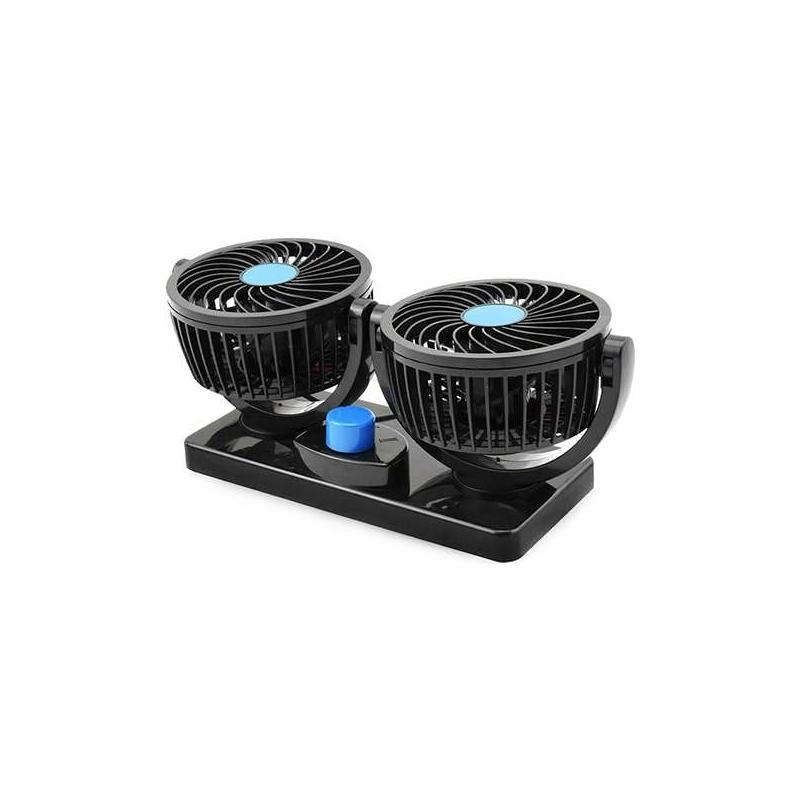 Duplafejű autós ventilátor – szivargyújtós csatlakozóval
