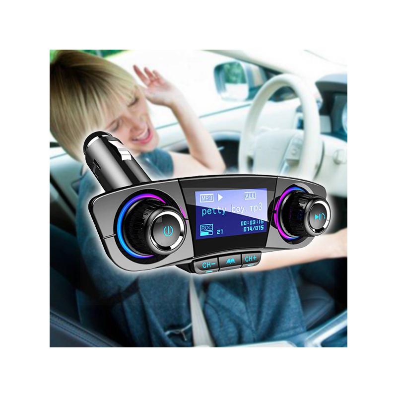 Autórádió formájú Bluetooth FM transzmitter LED kijelzővel