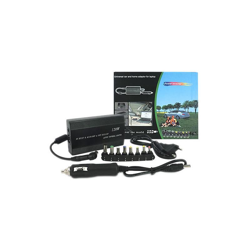 Univerzális laptop töltő autós és otthoni használatra / szivargyújtós + hálózati csatlakozóval