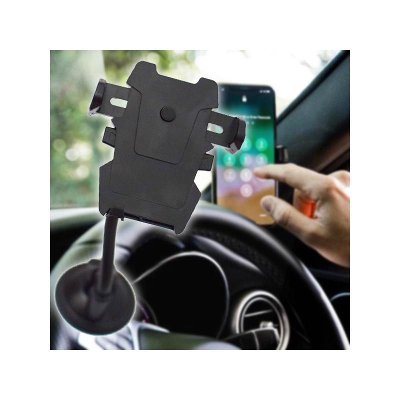 Tapadókorongos flexibilis szárú mobiltartó autóba
