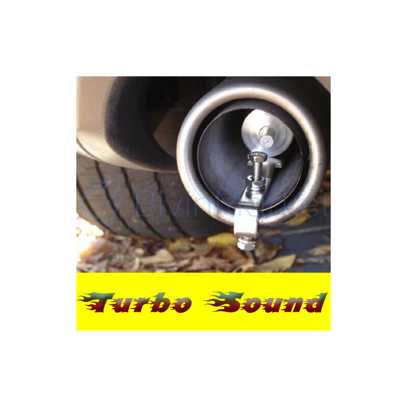 Turbo Sound - turbo hangutánzó kipufogóba
