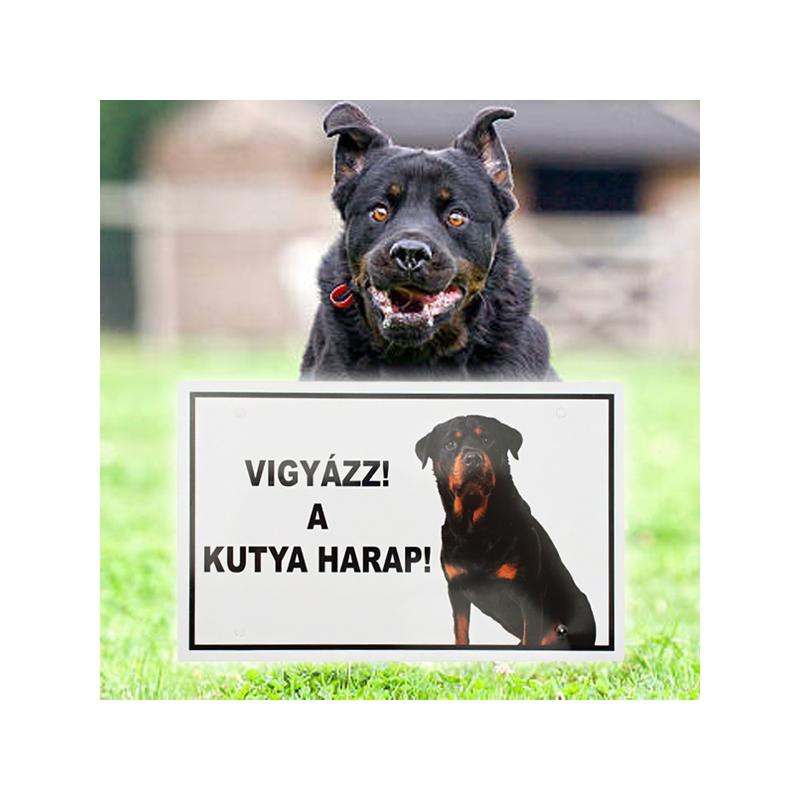 Vigyázz! A kutya harap! - Figyelmeztető tábla