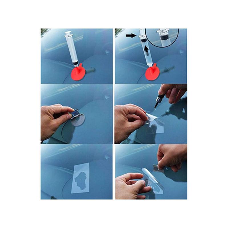 Szélvédő javító készlet / kőfelverődés javítása házilag